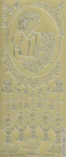 Outline Communion Girl's Gold