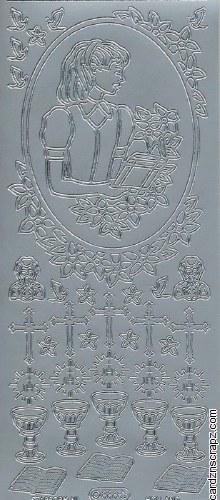 Outline Communion Girl' Silver