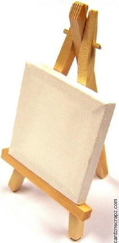 "Canvas Mini 3x3"" & Easel 6"""