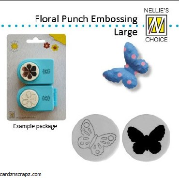 Nellie Snellen embossing Punches Butterfly large