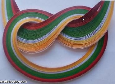 Quilling Strips 100pk Xmas Shades