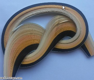 Quilling Strips 100pk Brown Shades
