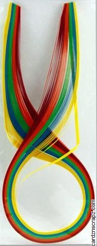Quilling Strips 100pk Bright Shades