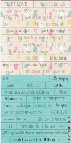 Word Stickers Piatek Little Girl