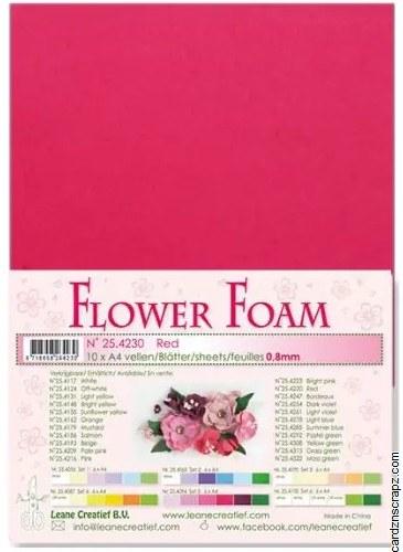 Flower Foam Red