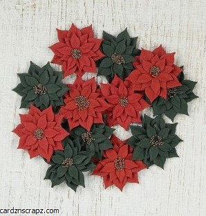 Flowers LB Star Daisies Red/Green