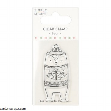 Clear Stamp Xmas Bear