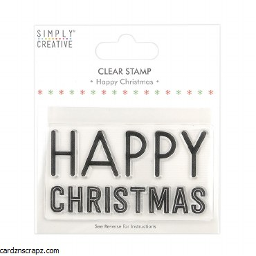 Clear Stamp Happy Christmas