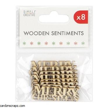 Wooden Words Merry Xmas 8pk