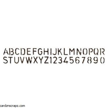 Sizzix Sizzlits Alphabet Decorative Strip