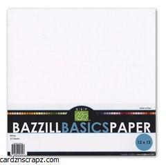 Bazzill 12x12 White