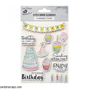 Stickers Little Birdie Wcolour Birthday
