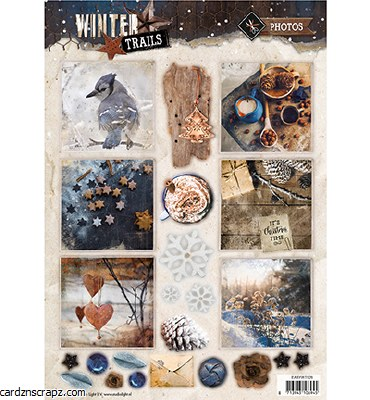 Studiolight Easy 3D A4 Precut Winter Trails No. 628