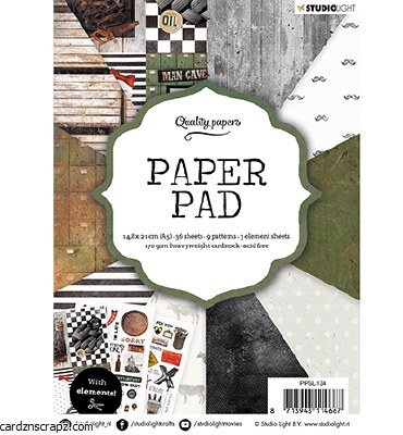 Paper Pk StudioLight Paper Pad A5 Men No.134