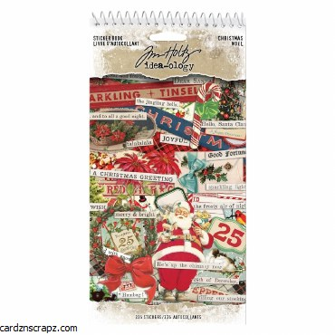 Sticker Book Tim Holtz Christm