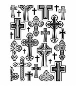 Embossing Folder Crosses