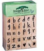Wooden Stamps Alphabet Lowercase 30pcs