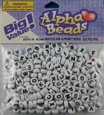 Darice Alphabet Beads 7mm 250pk White Round