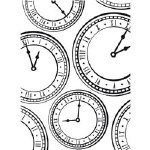 Darice Embossing Folder 4.25X5.75 Clock Background
