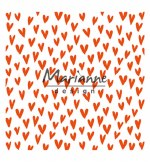 "Embossing Folder 6x6"" MD Heart"