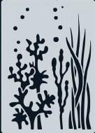 Stencil A6 CE Ocean Plants