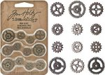 Tim Holtz Idea Ology Mini Metal Gears 12pk