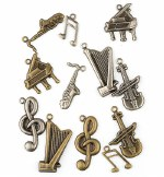 Charms Musical Items 12pk