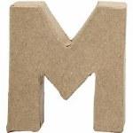 Papier Mache Letter M 10cm