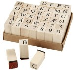 Mounted Rubber Stamp Alphabet Set Trendy Letters 42pk