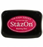 Staz-on Ink Pad Blazing Red