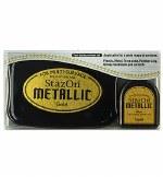 Staz-on Ink Pad Metallic Gold w/Refill