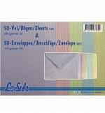 Card/Env 50pk A6 Asst Pastel