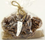 Pine Cones Bag Natural 5cm