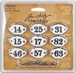 Tim Holtz Advantus Idea Ology Plaquettes .75X1.25 9pk With 18 Long Brad Fasteners