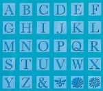Cuttlebug All In One Embossing Plate Monogram Alpha