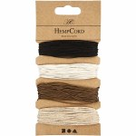 Natural Hemp Cord .5mm Brown Harmony Assorted 4 Pack