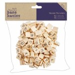Wooden Tile Letters 15mm 200pk