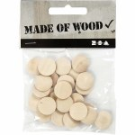 Wooden Buttons 15mm 25pk