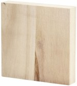 Wood Budget Block 96x96x20mm