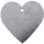 Metal Heart 30x30mm Mini 15pk