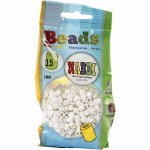 Fuse Beads 5mm 1100pk White