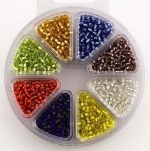Beads Wheel Glass 8 Assorted