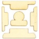 Studio Calico Wonderland Laser Cut Wood Veneer Shapes - Tabs