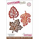 CottageCutz Die 4X6 3 Filigree Fall Leaves Made Easy