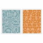 Texture Fades A2 Embossing Folder Arrows & Boardwalk