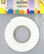 Double Sided White Foam Tape 10mm x 2mm x 2m