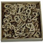 Wood Shapes Numbers 256pk