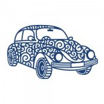 Tattered Die Retro Car