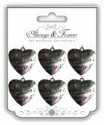 Embellishments Hearts 6pk
