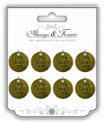 Embellishments Live Laugh 8pk